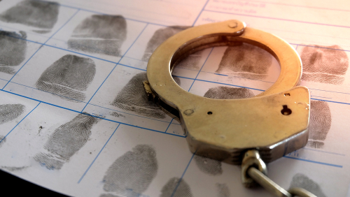 Charted Fingerprints with Handcuffs