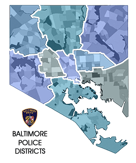 Baltimore, Maryland Police Districts