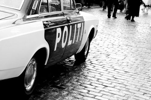 Old Time Police Car