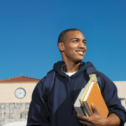College Student Carrying Books