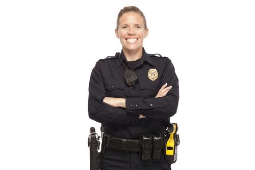 Smiling Policewoman
