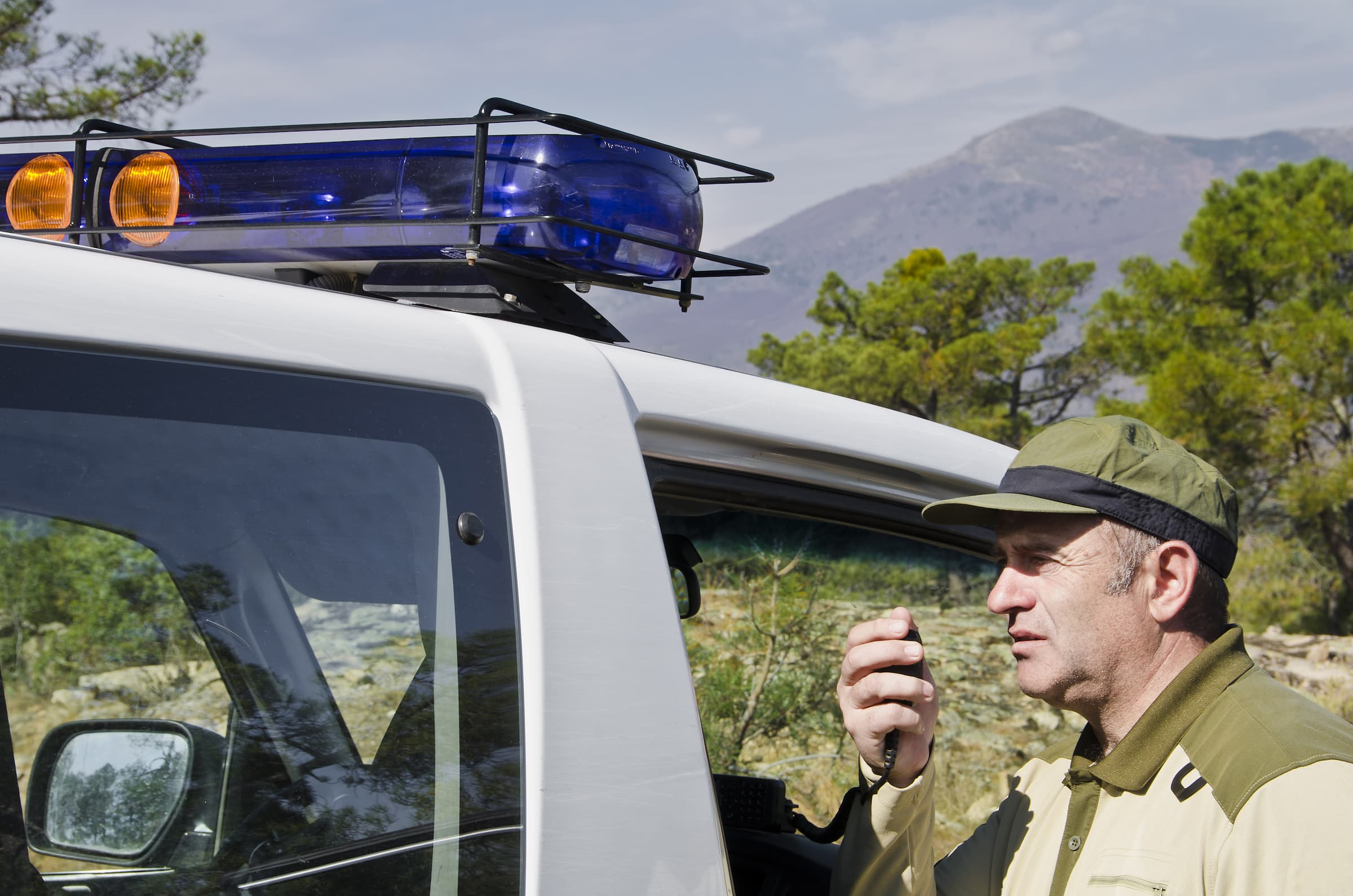 Game Warden On Police Car Radio