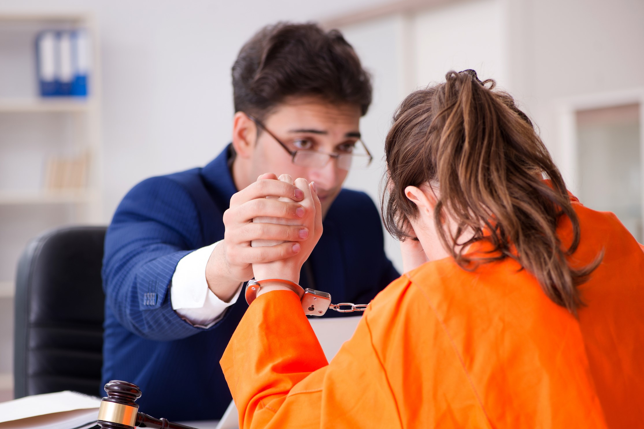 Forensic Psychologist Helping Inmate