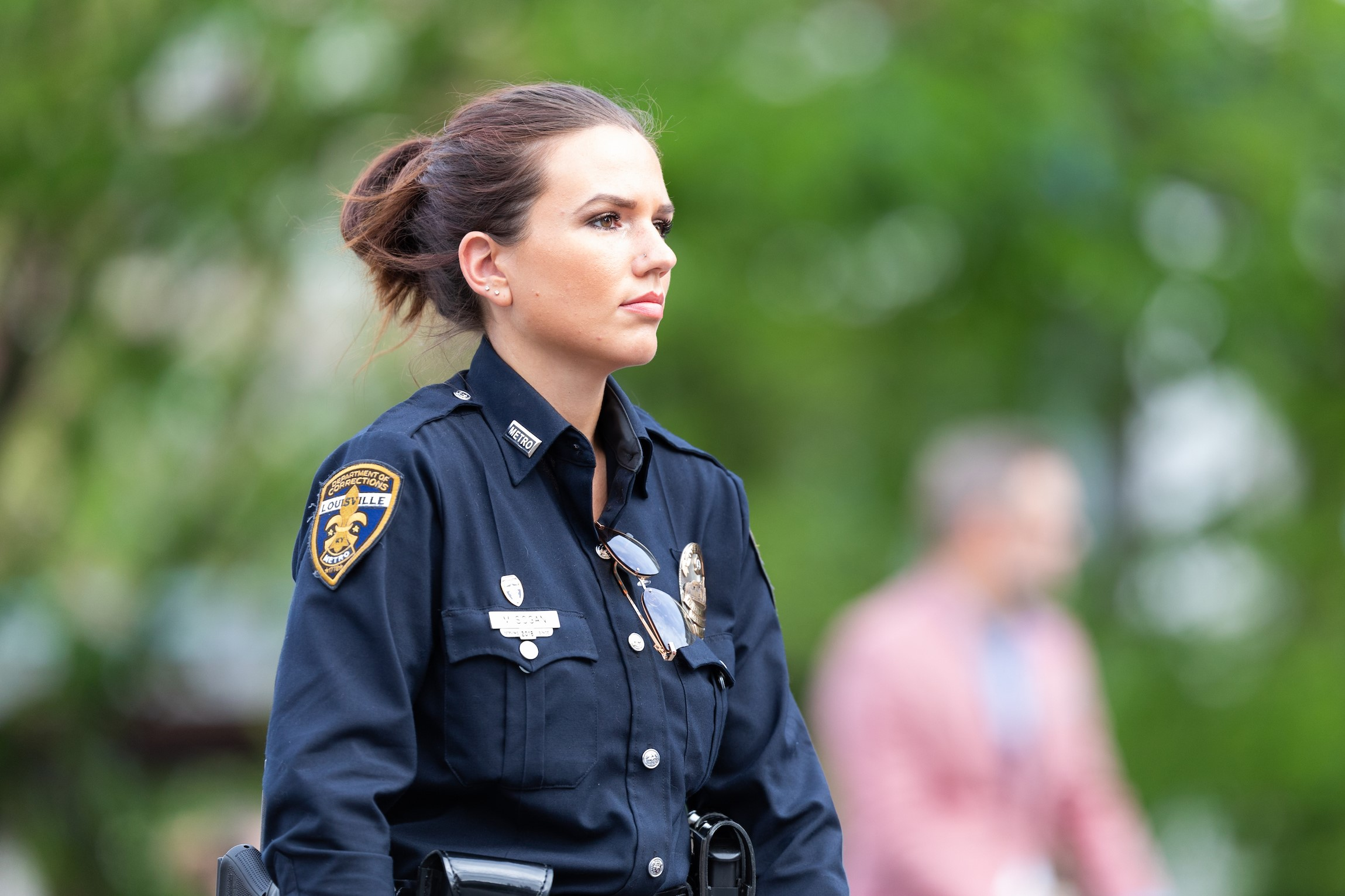 Woman Police Officer On-Duty