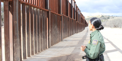 border patrol agent at work