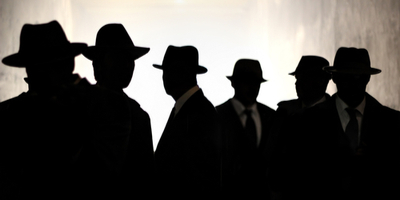 silhouettes of cia agents