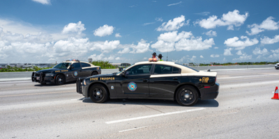 two state troopers involved in a road block