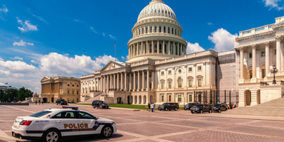 police car at us capitol in Washington, D.C.